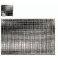 Brown & Silver Basket Weave Table Mat, Set Of 4+4