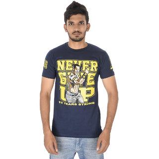 John Cena Never Give Up Mens Tshirts Nevy Blue