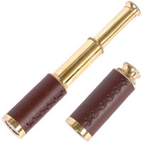 Bagru Crafts Jaipuri Handicraft Real Telescope in Brass Leather