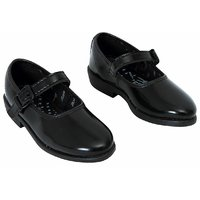Gold Star School shoes Black for Girls