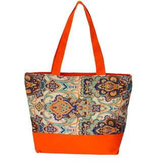 Waanii Women's Orange Tote Bag (WNI911)