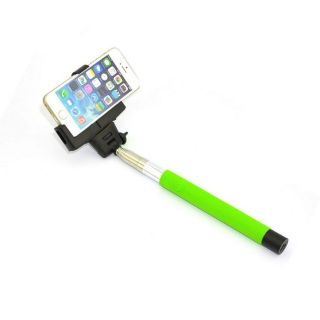 Callmate Bluetooth Mobile Phone Shutter Selfie Monopod - Green
