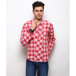 Yepme Wincon Check Kurta Shirt - Red  Ecru