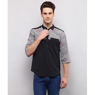 Yepme Jeffer Printed Kurta Shirt - Black
