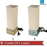 ExclusiveLane Combo Of Wooden Lamps (Option 2)