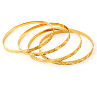 Sthri Elite Gold Plated Golden Brass  Copper Bangles For Women
