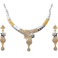 Kriaa Graceful Design Austrian Stone Necklace Set