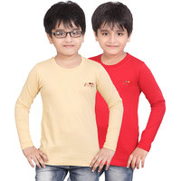DONGLI BOYS FULL SLEEVE TSHIRT ( PACK OF 2)DLF450_5_13_RED_BEIGE