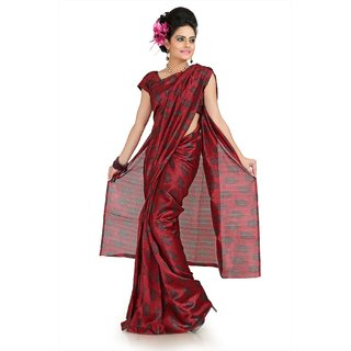 Maroon bhagalpuri silk saree with unstitched blouse (flk1011)