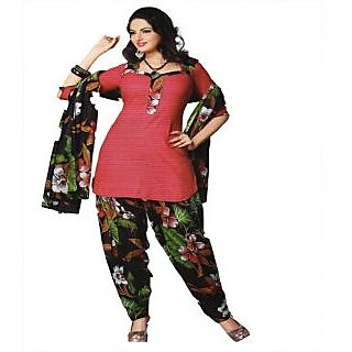 Kamal's Designer Printed Unstitched Suit Piece With Dupatta (Pink)