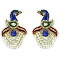 Peacock Pattern Designer Earring By Zaveri Pearls