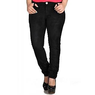 Fashion Cult Stylish Black Corduroy Trouser - Black