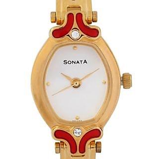 Sonata Women Stylish Watch - 8068YM04