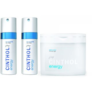 Cinthol Deo Spray - Energy (Pack of 2) +  Cinthol Shower Gel - Energy (Insta Deo