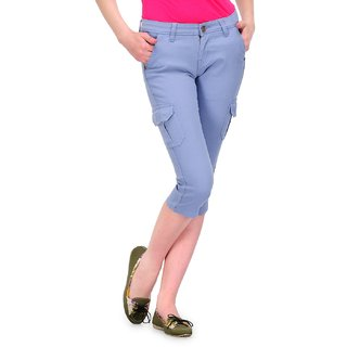 Fashion Cult Stylish Capri For Women - Blue