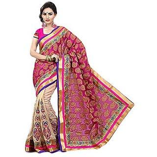 Trishana Fashions Sarees Tissue Lace TFWE12086 Ruby