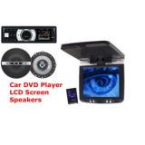 Car Dvd Cd Mp3 Usb Remote 4 Speakers 7 Lcd