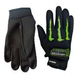 Monster Bike Motorcycle Hand Gloves Designed For Comfort Driving Riding Black