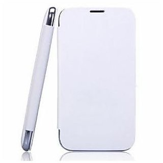 Karbonn Titanium S5 Mobile Flip Cover (White) available at ShopClues for Rs.490