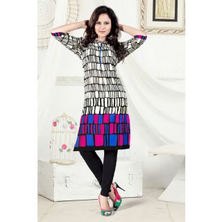 Off White Colore Cambric Cotton Kurti EBSFK132707B