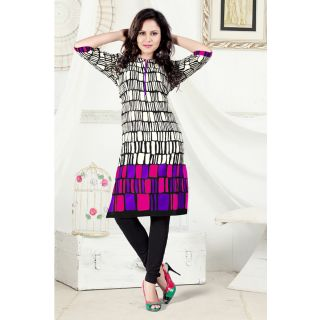 Off White Colore Cambric Cotton Kurti EBSFK132707C