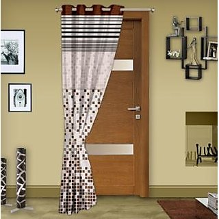 Story @ Home Brown 1 pc Door curtain-7 feet-DCL1004