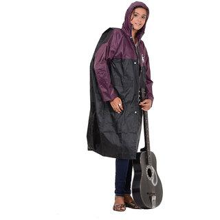 Allwin Unisex (Kids)Polyester Raincoat ,P-1140-BLACK-38