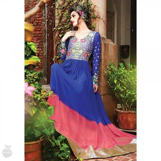 064819bcbcd4 Designer Shaded Blue Gown Anarkali is available at ShopClues for Rs. 2199