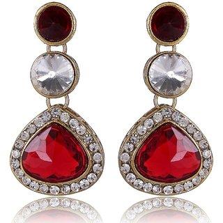 Shining Diva Red Kundan Earrings (6624er)