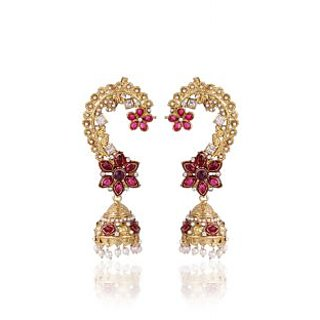 Shining Diva Pink Ear Cuff Style Jhumki Earrings (6775er)