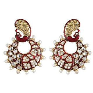 Shining Diva Chandbali Style Peacock Earrings (6797er)