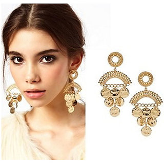 Alloy Gold Cinderella Earrings (r6297er)