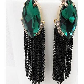 Alloy Green Cinderella Earrings (r6300er)
