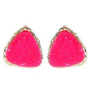 Alloy Pink Cinderella Earrings (r6308er)
