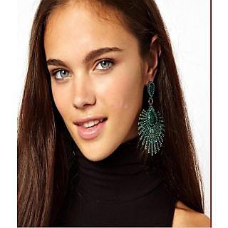 Alloy Green Cinderella Earrings (r6309er)