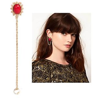 Alloy Red Cinderella Red Stone Ear Cuff (For Single Ear ) (r6310er)