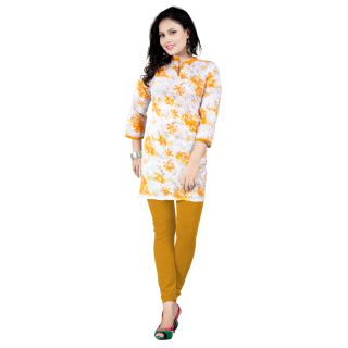 Bright Yellow Cotton Kurti EBSFK112606A