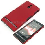 Red Ultra Thin Rubberized Matte Hard Case Cover For Sony Xperia P LT22i