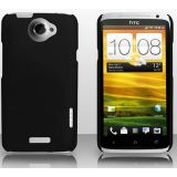Black Ultra Thin Rubberized Matte Hard Case Cover for HTC One X