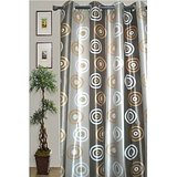 JBG Home Store Set Of 2  Stylish Circle Design Curtain(9 Ft)(Set Of 2) Design 1