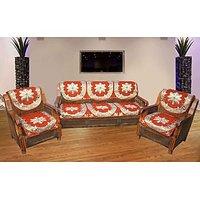 JBG Home Store Decorative Orange  Sofa Cover Set ( Set Of 10)