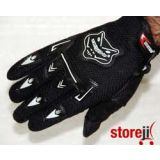Knighthood 1 Pair Of Hand Grip Gloves For Bike Motorcycle Scooter Riding Black Colour