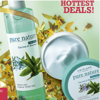 Oriflame Pure Nature Organic Tea Tree & Rosemary Purifying Wash & Tone Gel and Face Cream