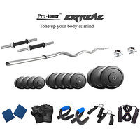 Protoner  Extreme Weight Lifting Package 20 Kgs + 3' Curl Rod