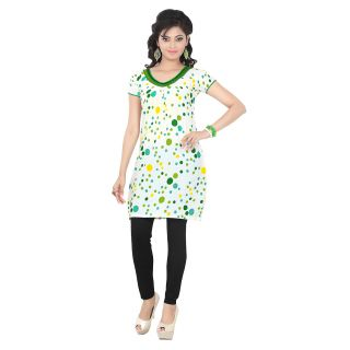 White Colored Attractive cambric Cotton Kurti EBSFK10105C