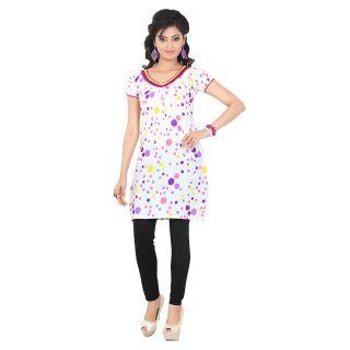 White Colored Attractive cambric Cotton Kurti EBSFK10105D