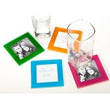 Multicolor Glass Coaster/Frames Set Of 4
