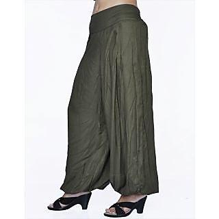 Women Stylish Pure Rayon Grey Color Harem Pants Bottom Trousers