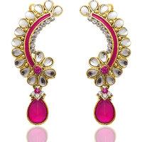 Kriaa Gold Plated Multi Dangle Earrings For Women