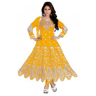 Marvelous Yellow Semi Stitched Party Wear Salwar Kameez EBSFSK09104E